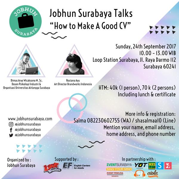 Jobhun Surabaya Talks: How to Make A Good CV