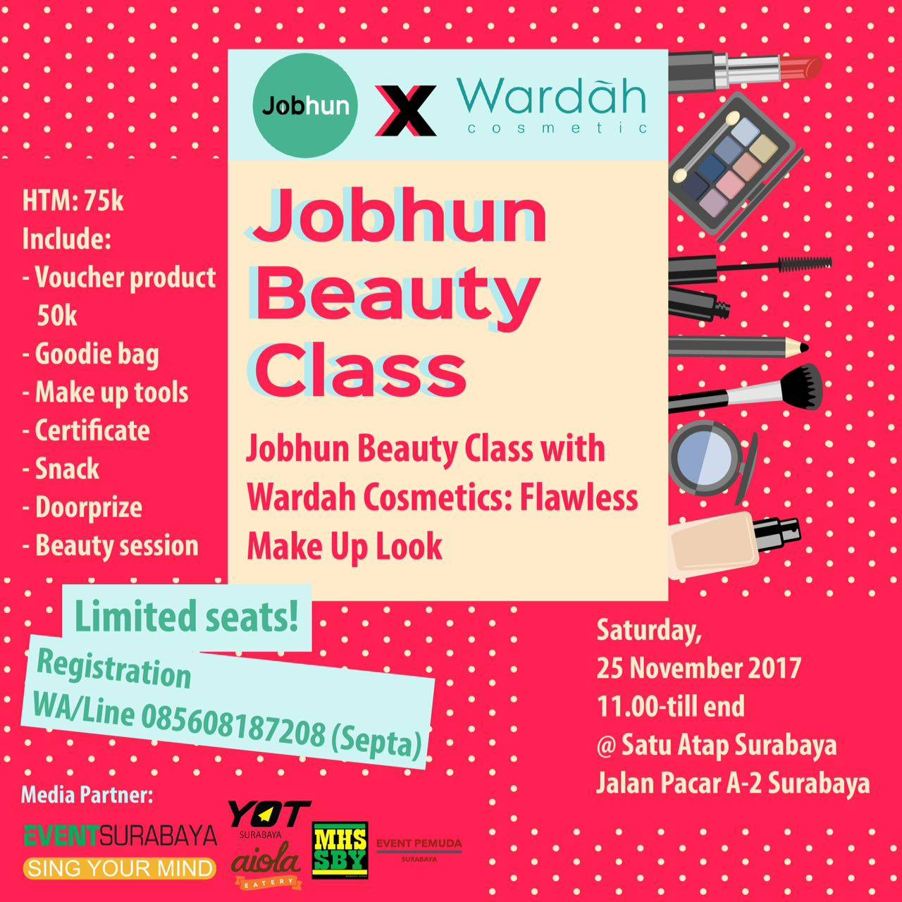 Jobhun Beauty Class: Flawless Make-Up Look