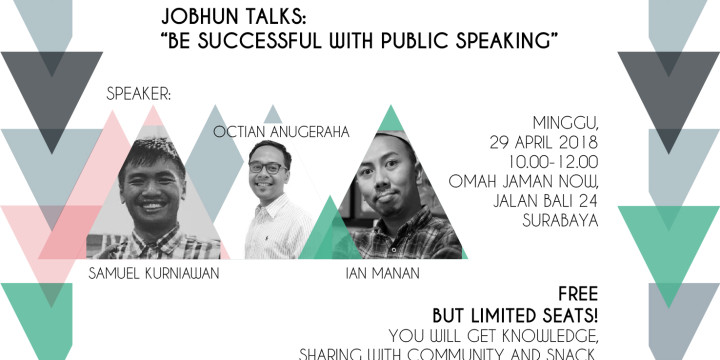 "Jobhun Talks: ""Be Successful With Public Speaking"""